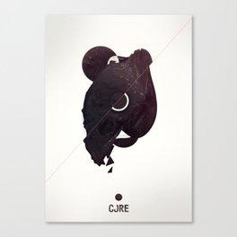 CORE Black Canvas Print