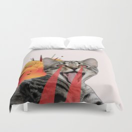 CAT ATTACK! Duvet Cover