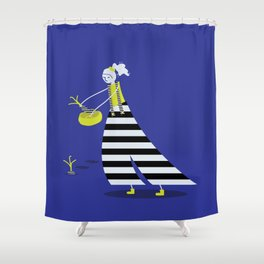 Watering Can Woman v.1 Shower Curtain
