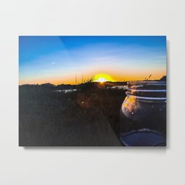 Sunset at Thompson's Point in Portland, Maine Metal Print