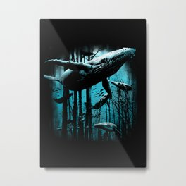 Whale Forest Metal Print