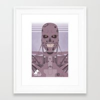terminator Framed Art Prints featuring Terminator  by avoid peril