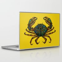 crab Laptop & iPad Skins featuring CRAB by Claire Cousins