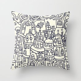 Babel II Throw Pillow