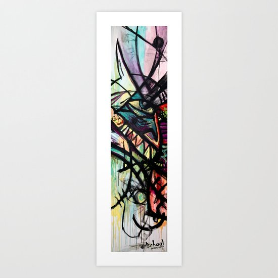 artist series skate graphic Art Print