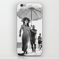 pablo picasso iPhone & iPod Skins featuring PABLO PICASSO AT BEACH by VAGABOND