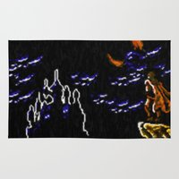 castlevania Area & Throw Rugs featuring Castlevania III Trevor Belmont poster by VGPrints