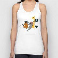 bathroom Tank Tops featuring Everybody wants to be the pirate by Picomodi