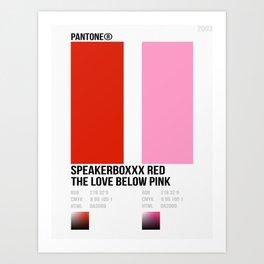 SPEAKERBOXXX RED/THE LOVE BELOW PINK Art Print