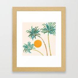 Summer Sunset Palms Framed Art Print