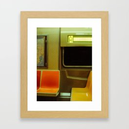 NYC Subway Framed Art Print