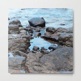 Fantasy Secret Cove By Magical Blue Ocean Metal Print