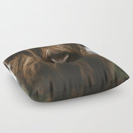 Scottish Highland Cattle Floor Pillow