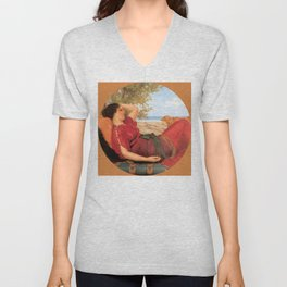 "John William Godward ""In Realms of Fancy"" Unisex V-Neck"