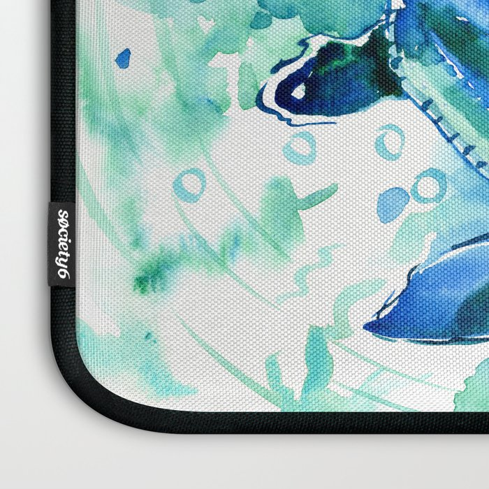 Turquoise Blue Sea Turtles in Ocean Laptop Sleeve