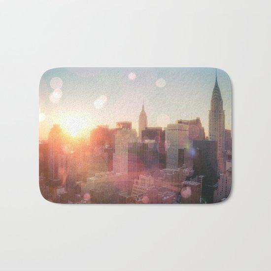 New York City Skyline Love Bath Mat