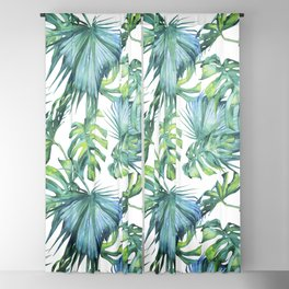Blue Jungle Leaves, Monstera, Palm #society6 Blackout Curtain