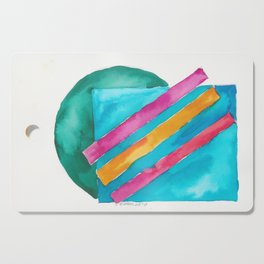 180819 Geometrical Watercolour 3  | Colorful Abstract | Modern Watercolor Art Cutting Board