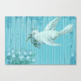 Shabby Chic Dove Of Peace Canvas Print