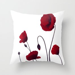 Poppies acrylic Throw Pillow