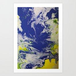 Marble Earth Pour Art Print