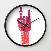 rocket Wall Clocks featuring ROCKet by prawidana