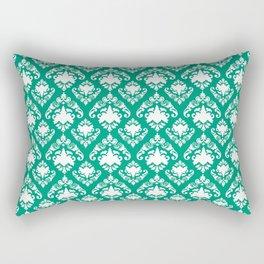 Emerald Damask Rectangular Pillow