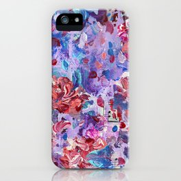 She's a wild one - Abstract floral painting iPhone Case