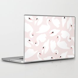 Swan Pattern on Pink 030 Laptop & iPad Skin