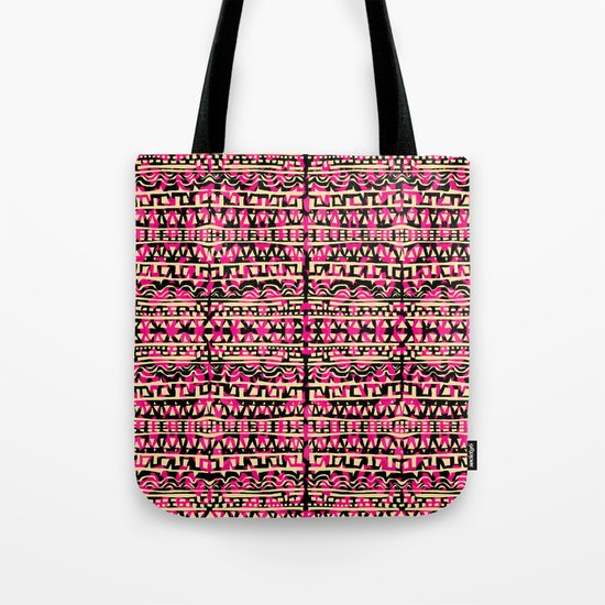 Tapestry Pattern Small Scale - Golden Pink Tote Bag