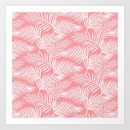 Palm Leaves_Pink Art Print