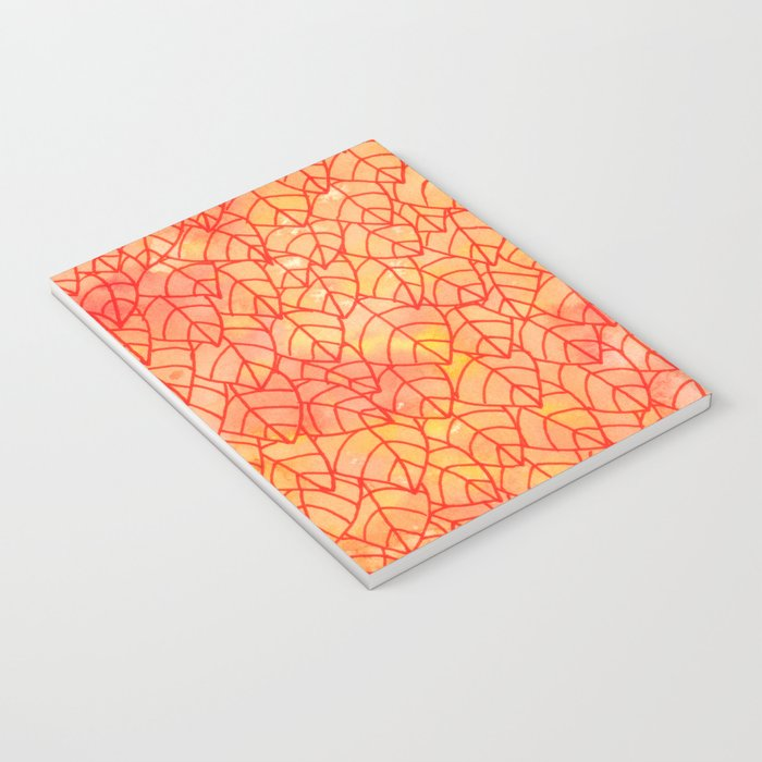 Autumn foliage watercolor Notebook