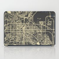 denver iPad Cases featuring Denver map by Map Map Maps