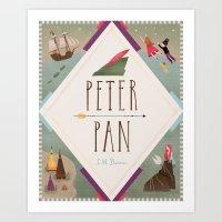 peter pan Art Prints featuring Peter Pan by emilydove