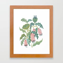 Folk Florals Painting Framed Art Print