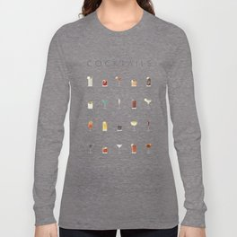 Cocktail Chart - Bar Menu Long Sleeve T-shirt