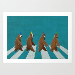 Sloth the Abbey Road Art Print