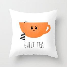 Guilt-tea Throw Pillow
