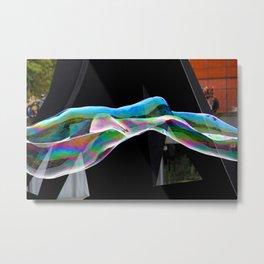 Parisian Bubbles Metal Print