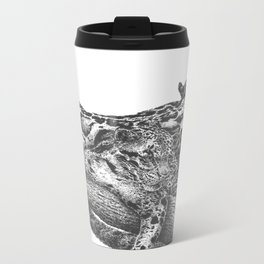 Clouded Leopard Double Image Metal Travel Mug