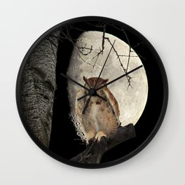 Great Horned Owl A138 Wall Clock