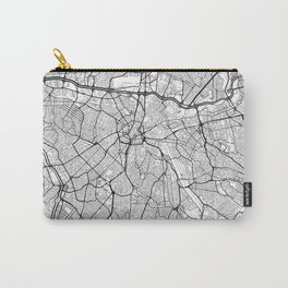Sao Paulo Map White Carry-All Pouch