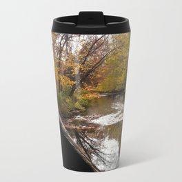 A river under a covered bridge Metal Travel Mug