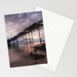 Mumbles pier refurbishment and Mumbles lighthouse Stationery Cards