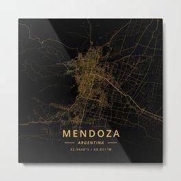 Mendoza, Argentina - Gold Metal Print
