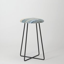 Serenity sea. Vintage. Square format Counter Stool