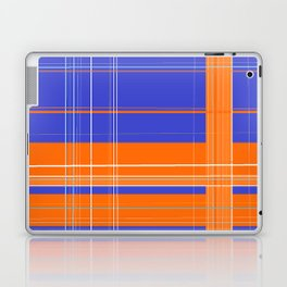 Orange and Blue Plaid Laptop & iPad Skin