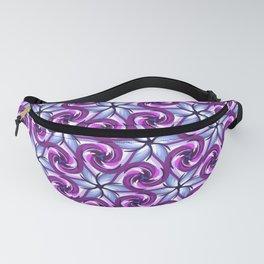 Purple Lotus Pinwheel Fanny Pack