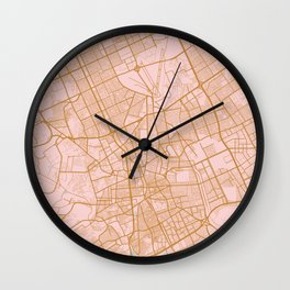 Riyadh map, Saudi Arabia Wall Clock