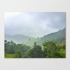 rainy hill Canvas Print